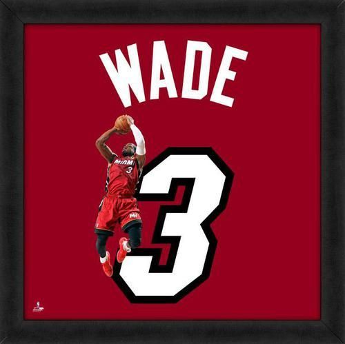 Dwyane Wade, Heat Photographic Representation Of The Playeru0027s Jersey Framed  Memorabilia