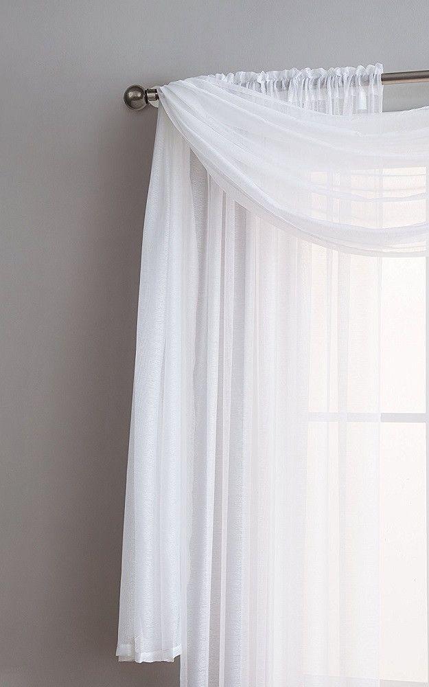 Warm Home Designs Premium Sheer White Window Scarves Or Rod Pocket Sheer White Curtains White Sheer Curtains White Curtains White Window Scarf