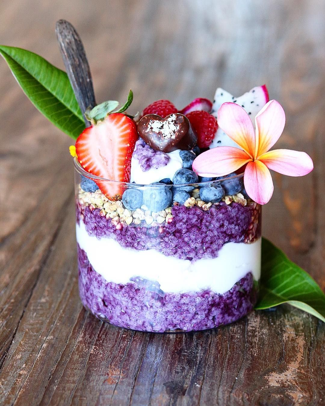 Melissa On Instagram Layered Maqui Berry Chia Jar With