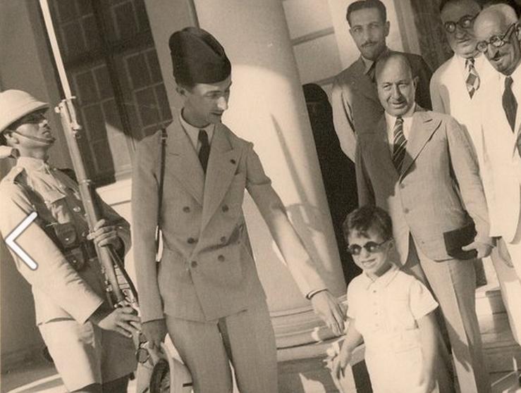 Prince Abdul Ilah،& King Feisal،& Ali Jawdat al   Middle ...