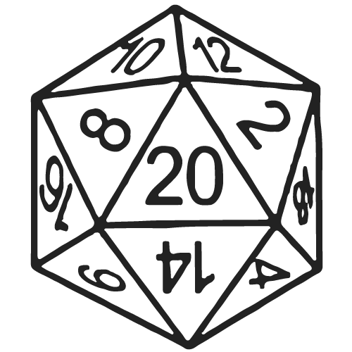 D20 Graphic Dungeons And Dragons Art Dungeons And Dragons Dice 20 Sided Dice