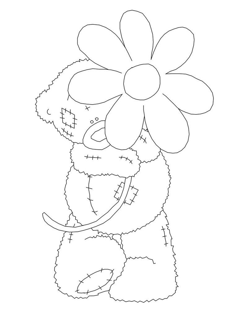Kleurplaten Me To You.Me To You Coloring Pages Teddy Bear Drawing Tatty Teddy Bear
