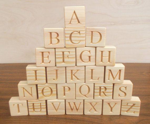 26 Wooden English Alphabet Blocks Handmade Educational Gift Personalized Blocks Baby Shower Gift Abc Abc Blocks Wooden Blocks Wooden Alphabet Wooden Alphabet Blocks Alphabet Blocks