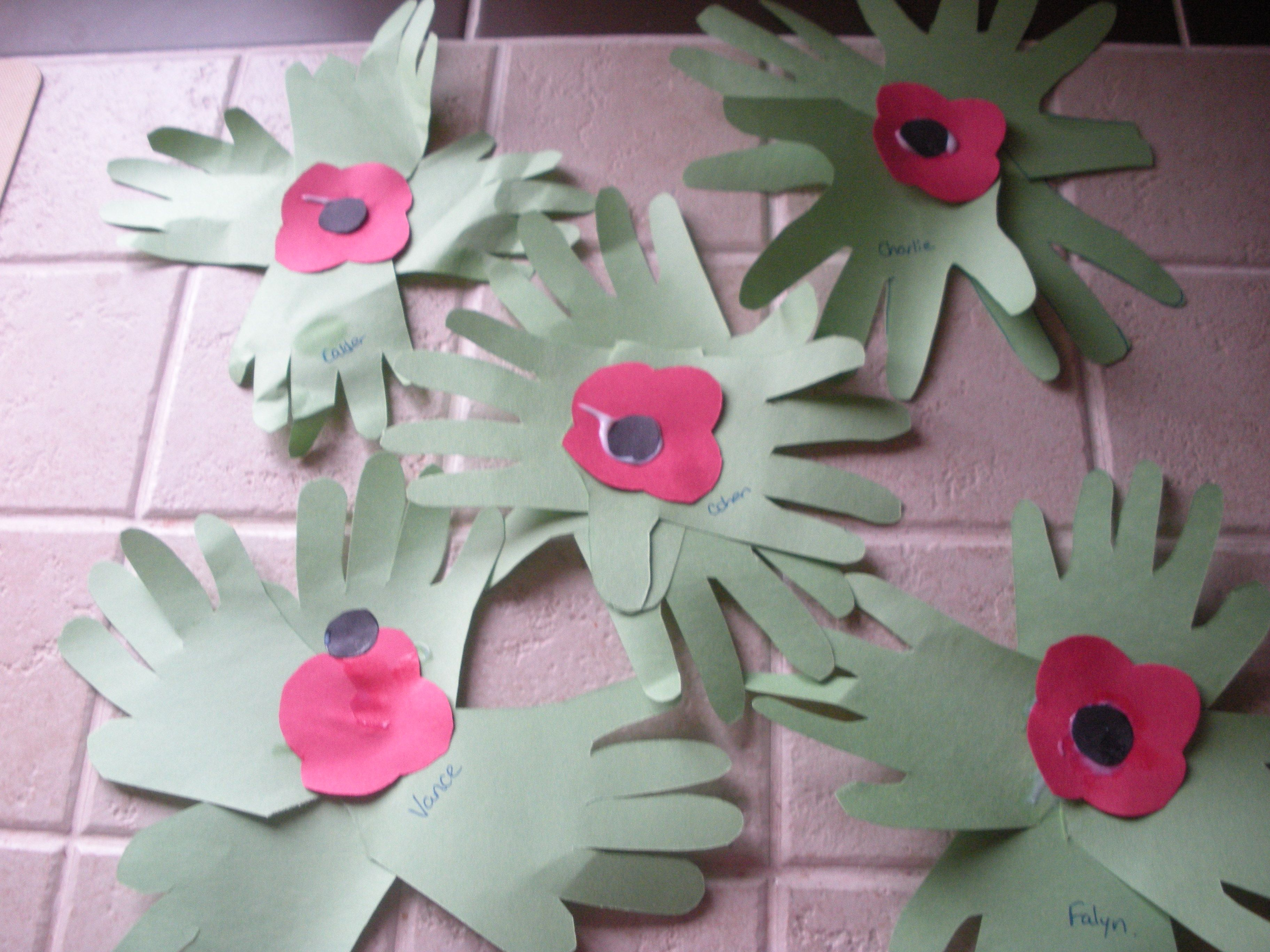 Remembrance Day Hand Wreaths