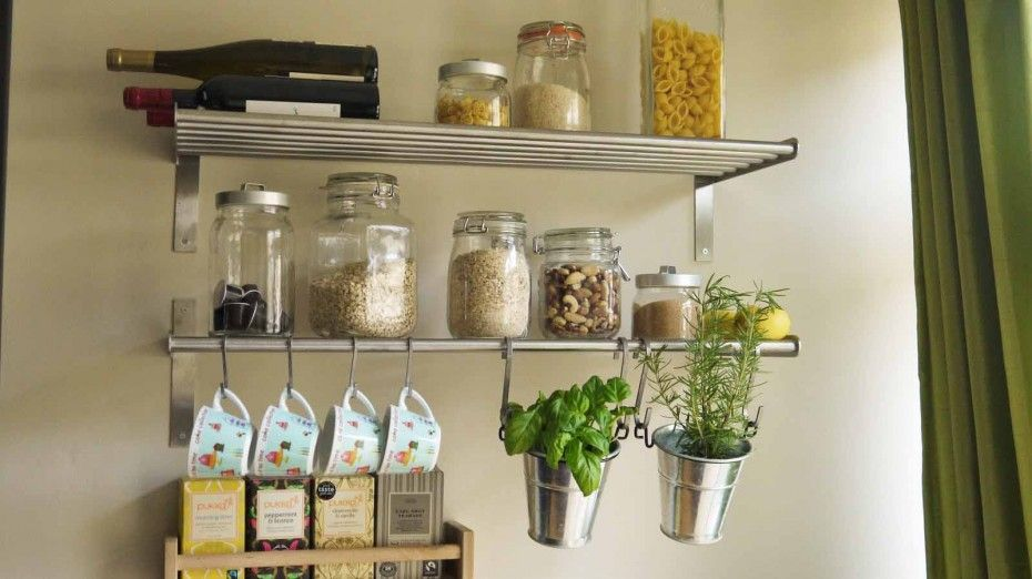 Merveilleux Kitchen Equipment And Wall Shelves For Home Reference Design With Floating Aluminium  Rack Also Made To Hang Cup Or Pot Plants Aluminium Of Impressive ...