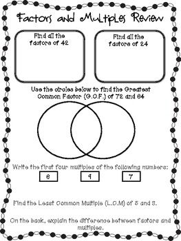 math worksheet : 1000 images about prime posite factor multiple on pinterest  : Multiples And Factors Worksheets