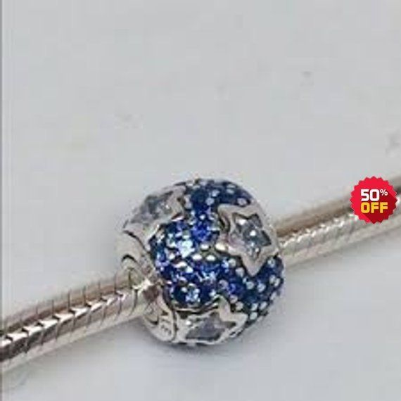 0c555017c Pandora Charms Midnight Blue Pave Stars Charm #supplies @EtsyMktgTool  #pandoracharms #pandorastars #midnightstarscharm #bluepavecharm