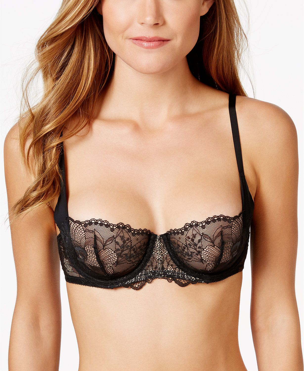Calvin Klein CK Black Collection Spacer Sling Balconette Bra ...