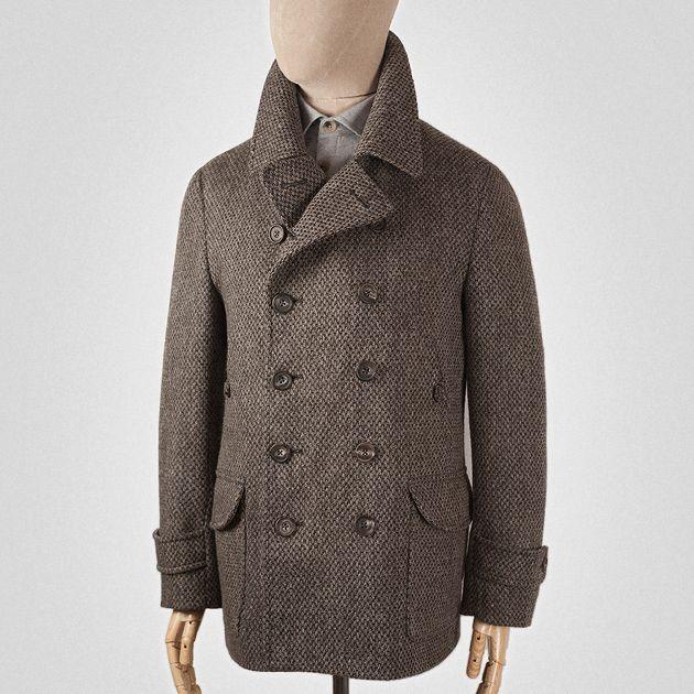 Tobacco brown wool tweed peacoat | Styles for Men | Pinterest ...