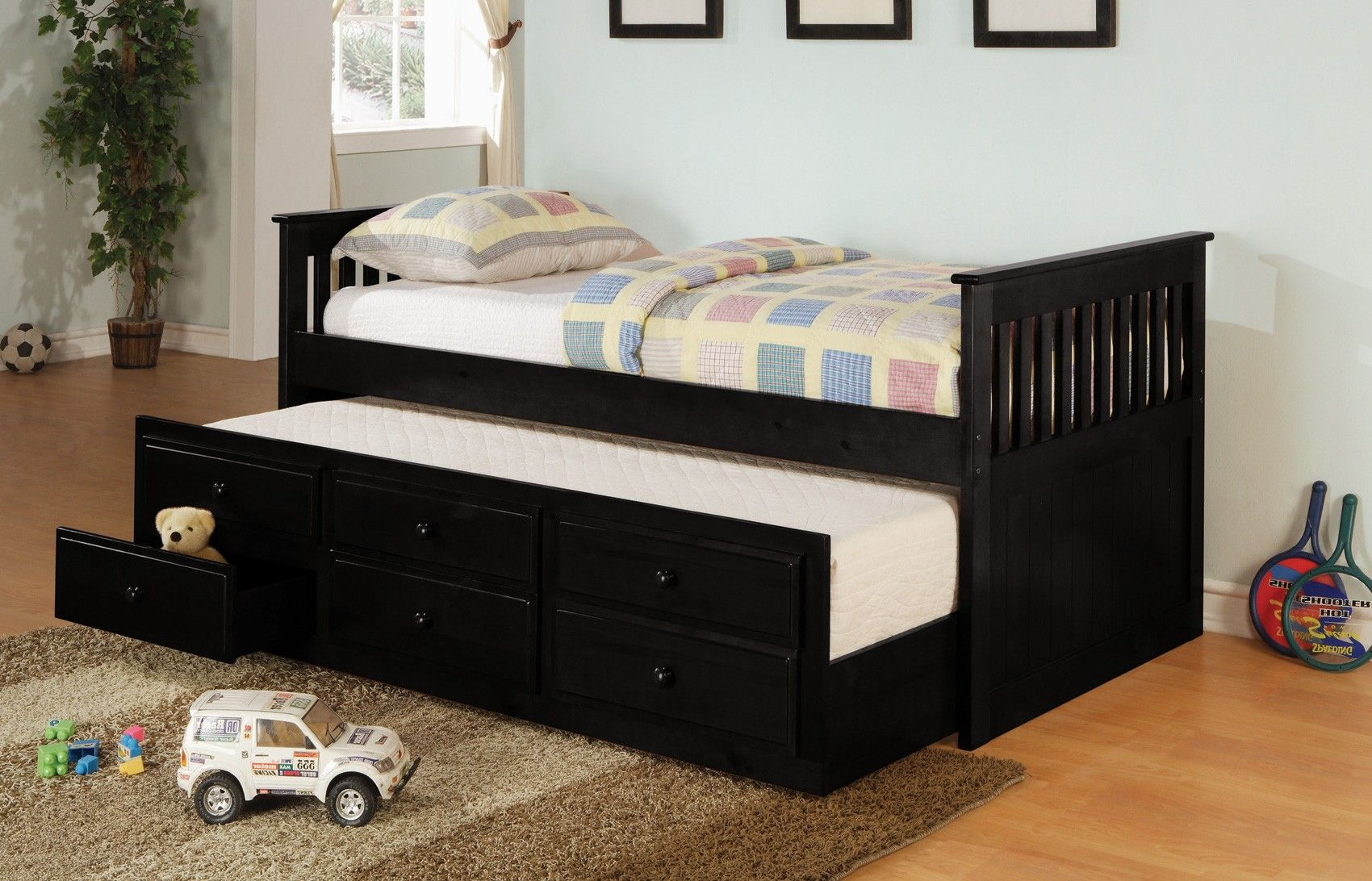 Kids Trundle Beds Classic Black Daybed Bedroom Inspiration