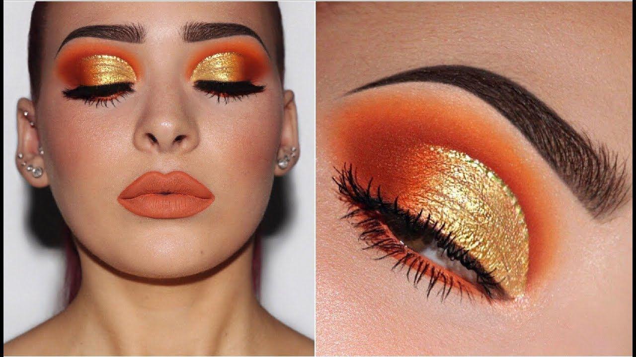 Orange & Yellow Gold   Makeup Tutorial
