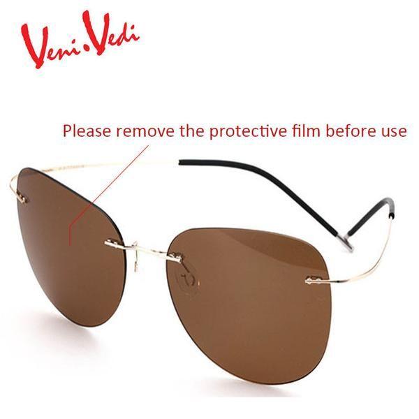 FuzWeb:VENI VEDI 2106 New Men's Sunglasses Men Rimless