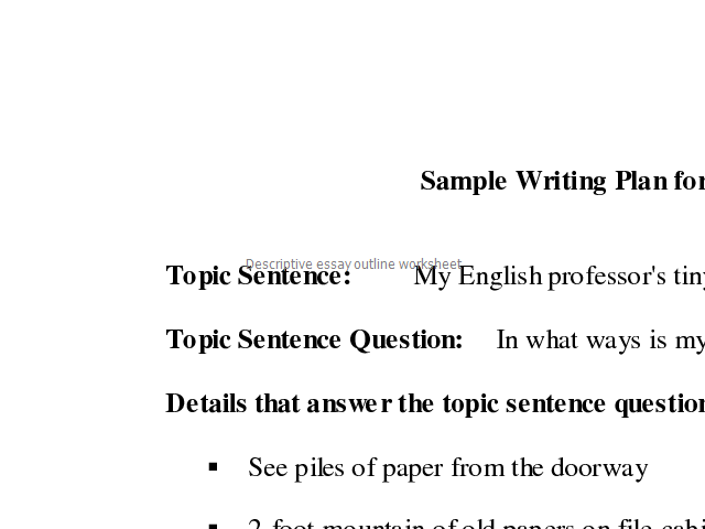 Essays About Business Descriptive Essay Outline Worksheet English Sample Essays also High School Application Essay Sample Descriptive Essay Outline Worksheet  Joiducelra  Pinterest Learn English Essay