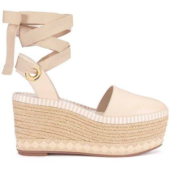 d6c23e0187c09 Tory Burch Dandy Espadrilles Wedges ( 149) ❤ liked on Polyvore featuring  shoes