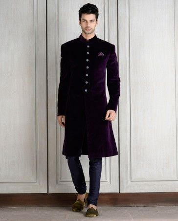 8922b6853b velvet sherwani - manish malhotra. Find this Pin and more on Men's wedding  outfits ...