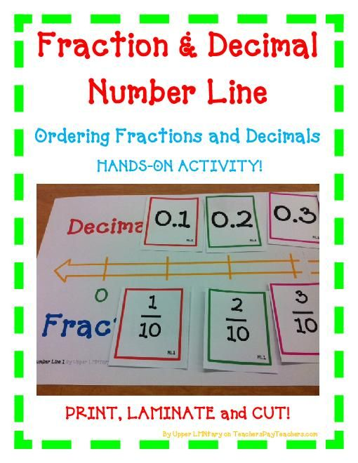 TeacherLingo 500 Fraction and Decimal Number Line Ordering – Fractions and Decimals on a Number Line Worksheets