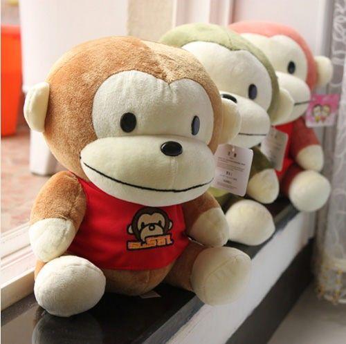 Cute Plush Big Mouth Monkey Stuffed Animals Mini & Large Size