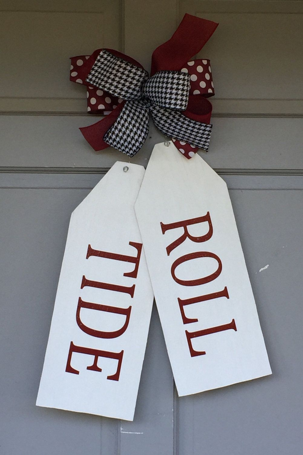 Wood Door Tags Roll Tide Door Hanger Roll Tide Door Tags