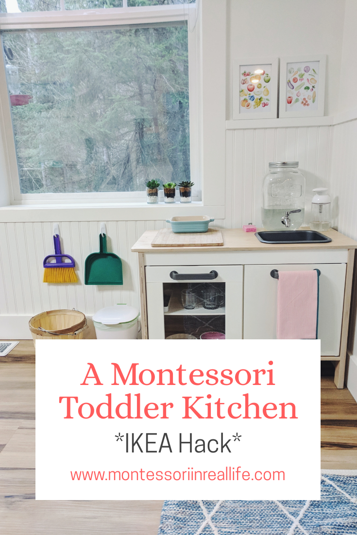A Functional Montessori Toddler Kitchen #toddlerrooms