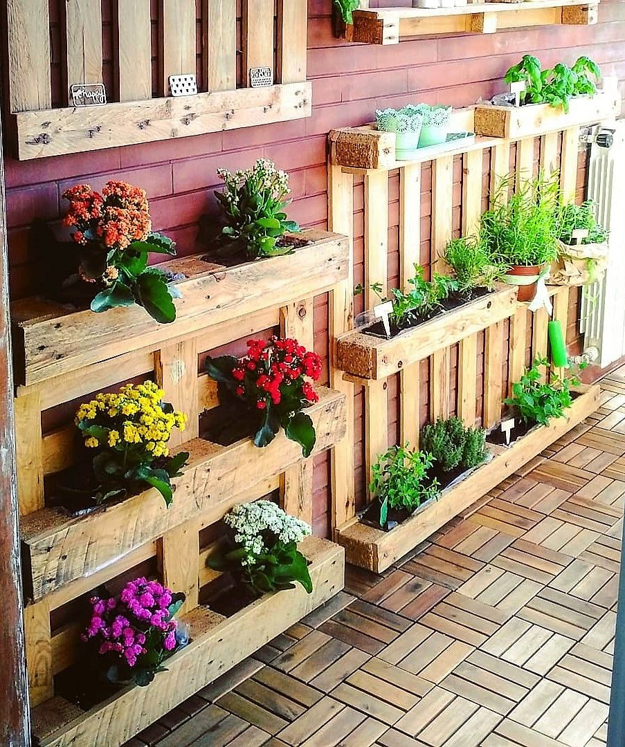 pallet outdoor wall decor planters diy pallet decor on pallet wall id=21615