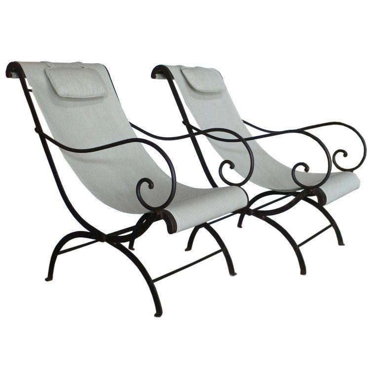 Pair Of French Wrought Iron Garden Chairs Camas De Hierro