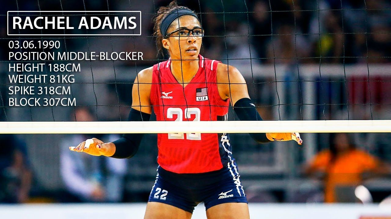 Top 15 Crazy Actions By Rachel Adams Usa Volleyball Positions Youtube Volleyball