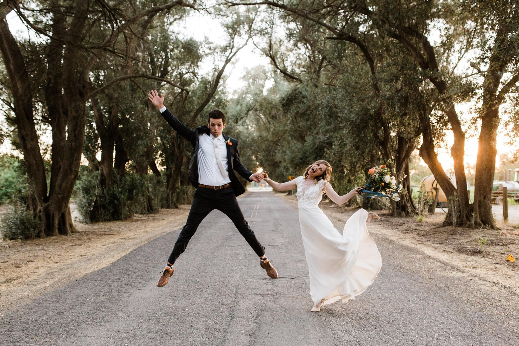 Jumping with joy! themapleswoodland in 2020 Wedding