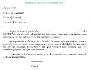 adjunta a tu currculum una carta de presentacin si no deseas extenderte mucho puedes - Ejemplo De Cover Letter