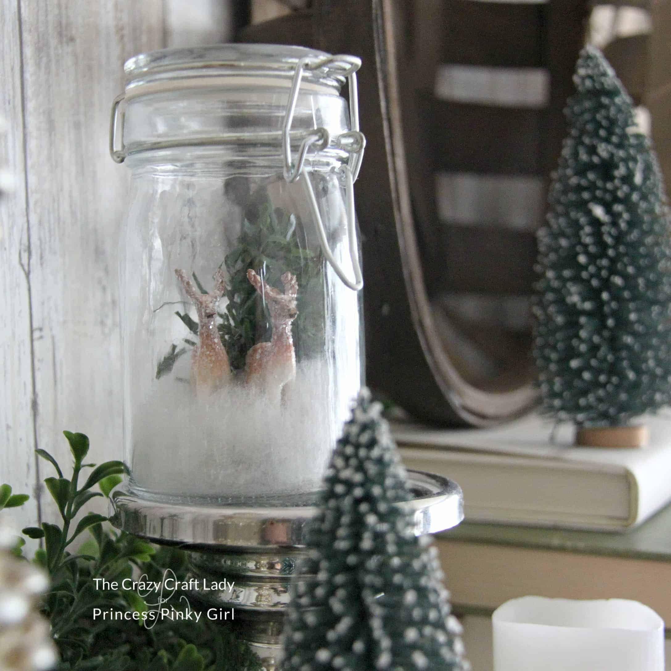 Follow This Tutorial To Make A Mini Glass Jar Snow