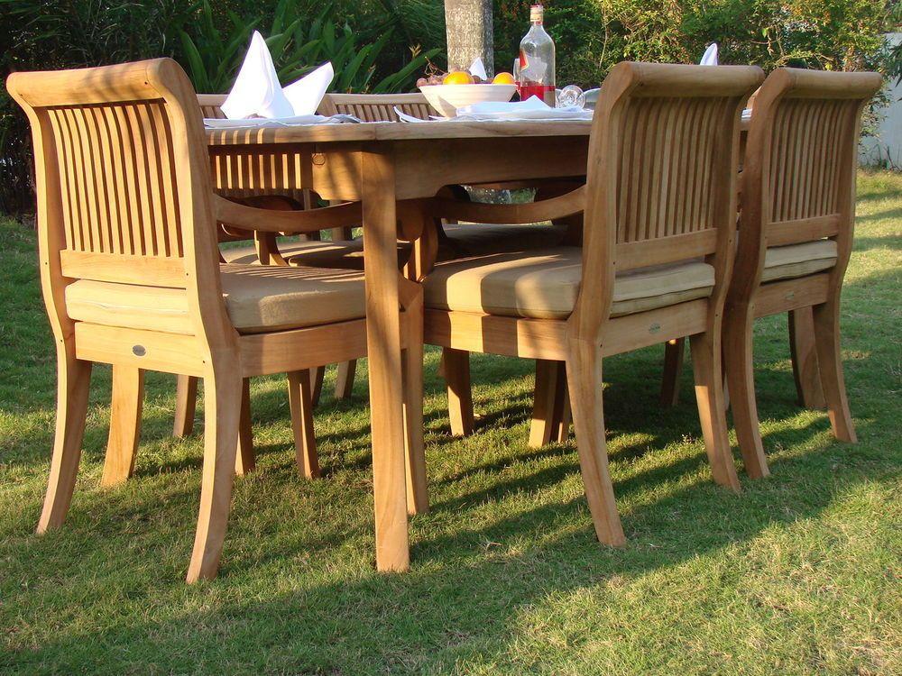 7 Pc Teak Dining Set Garden Outdoor Patio Furniture R09 Giva