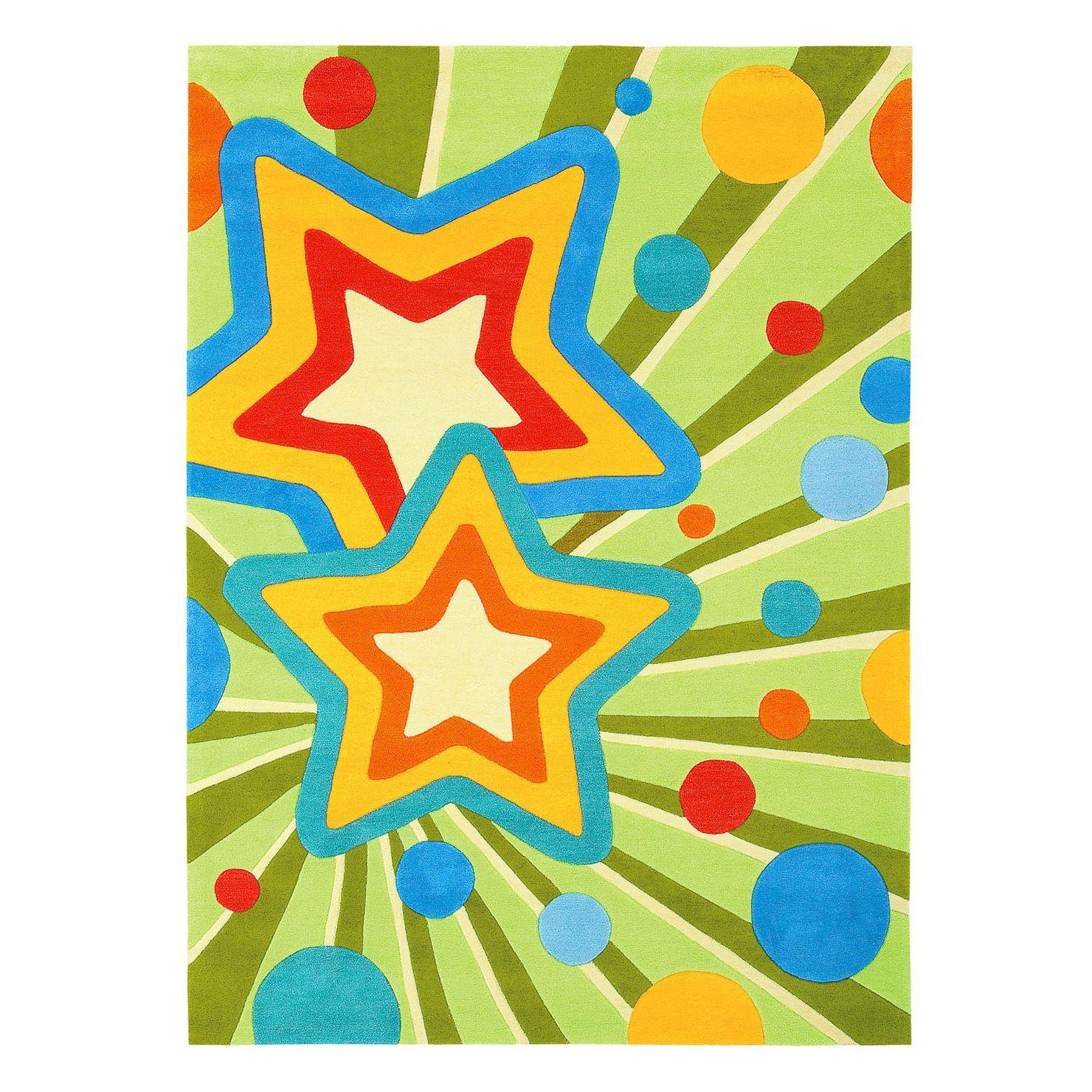 Arte Espina Stars 120x180cm Rug, Green, Blue & Yellow | Aprons ...