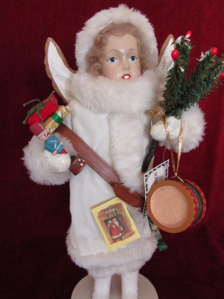 "JUDIE TASCH 15"" White Victorian Angel w Toys Presents by House of Hatten Figure #HouseofHatten"