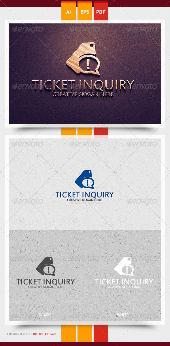 Ticket Inquiry Logo Template Logo templates and Logos - inquiry template