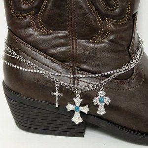 Cross Charm & Fringe Fashion Boot Bracelet Ynhj5440-bch15 Arif's Collection. $24.85. Boot Bracelet