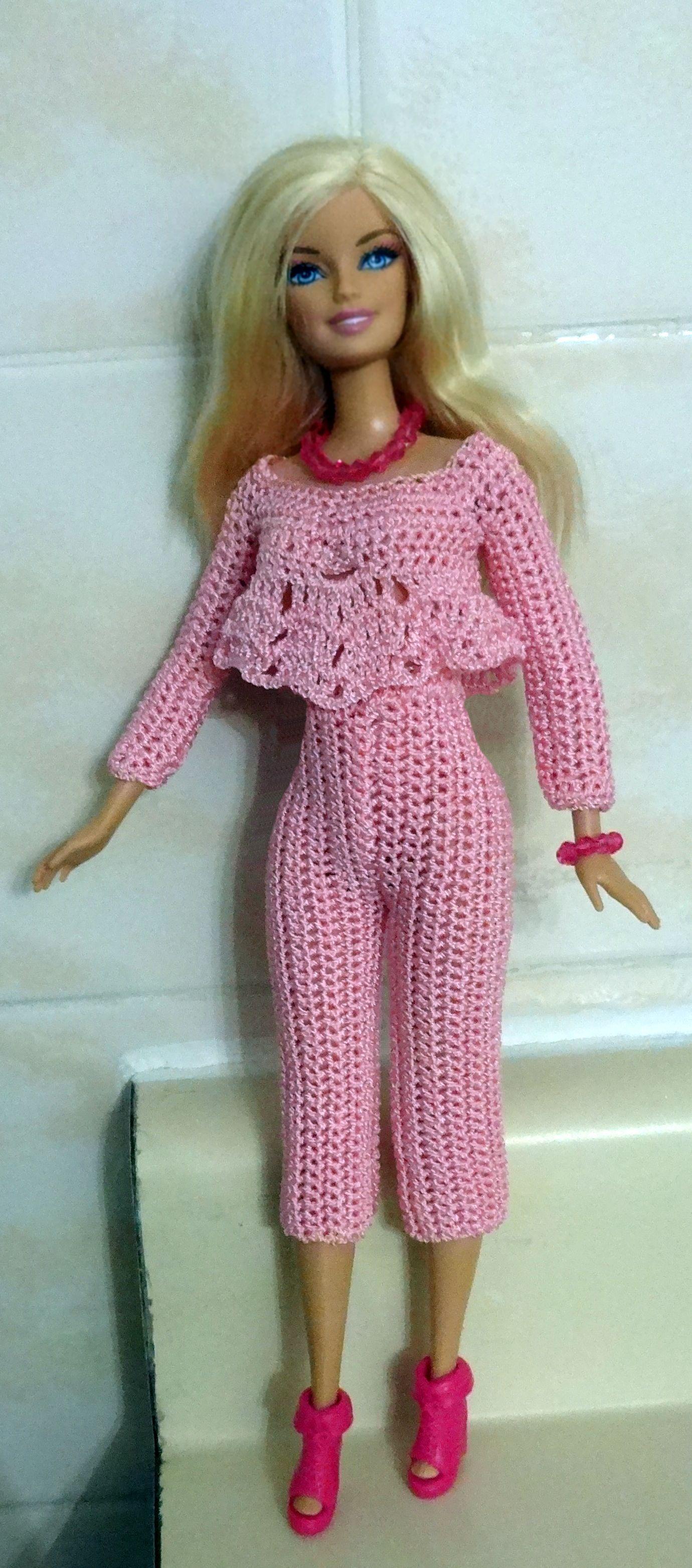 Roupa Rosa Crochê Pinterest Barbie Puppen Und Puppenkleider