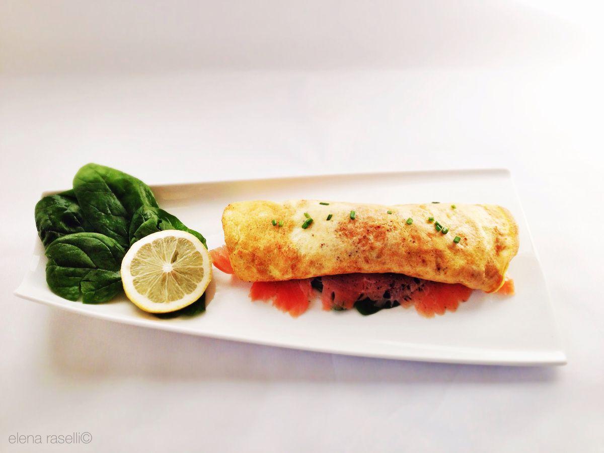 flourless low carb salmon crêpe!