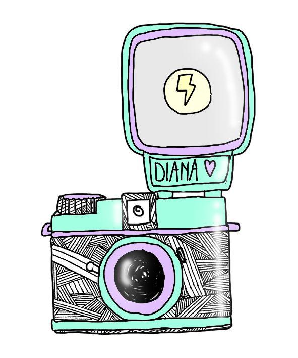 Diana Mini camera illustration
