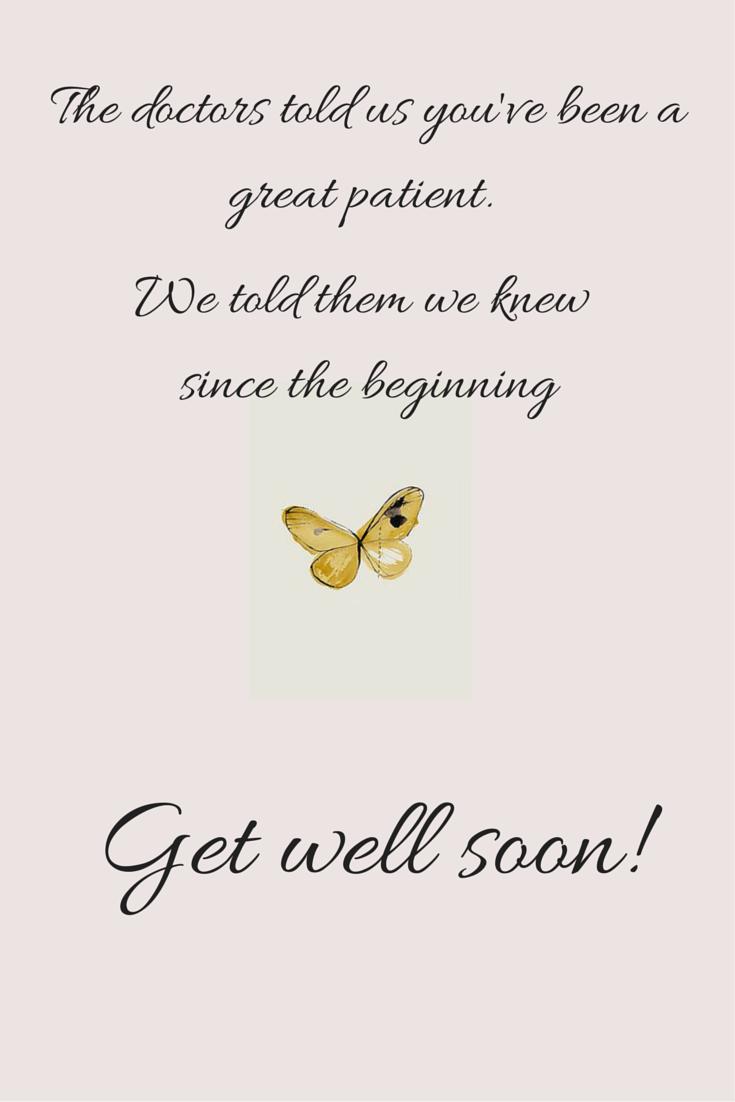 Pin på Get well soon