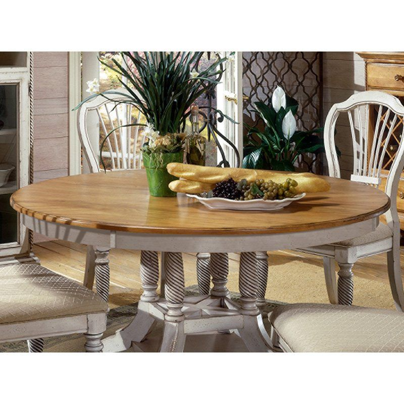 Have To Have It Hillsdale Wilshire Antique White Round Dining