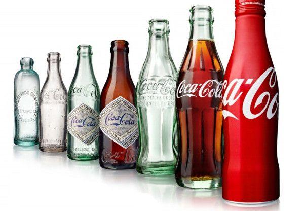 Evolución de botellas de coca cola