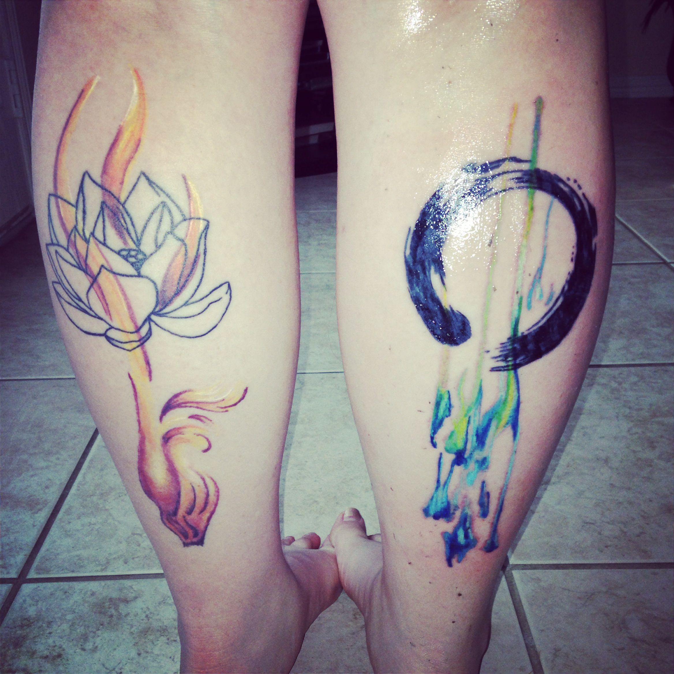 Enso is zen meaning life and or journey the breaks in the for Tattoos that symbolize change