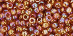 Toho 8/0 Round Japanese Seed Bead, TR8-162C, Transparent AB Topaz