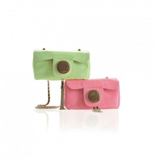 37493ee7f1 Collezione borse Baldinini Primavera/Estate 2014 - Tracolline verde  pistacchio e rosa con catena dorata - #bags #bag #pink #green
