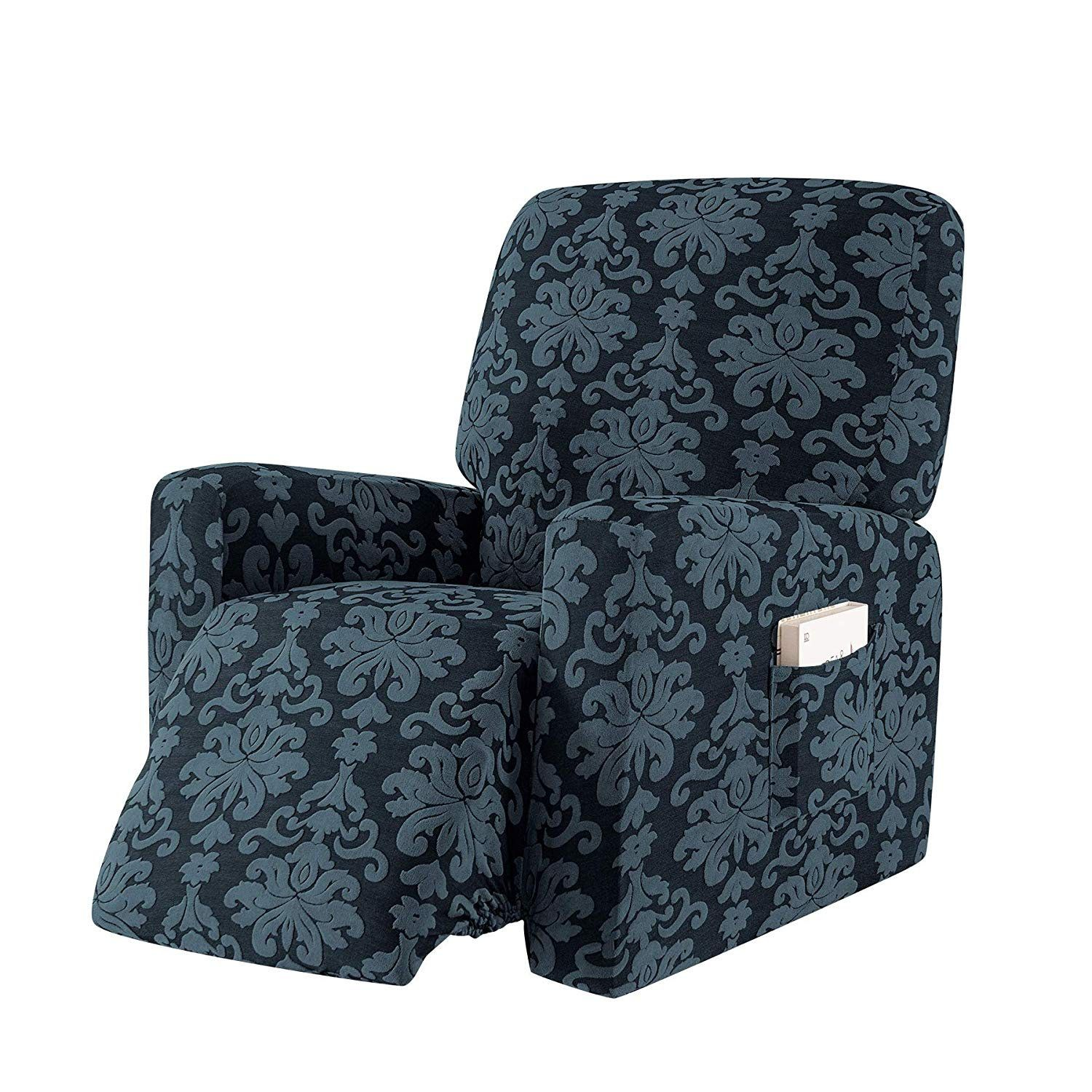 Subrtex 1Piece Elegant Jacquard Recliner Chair Cover