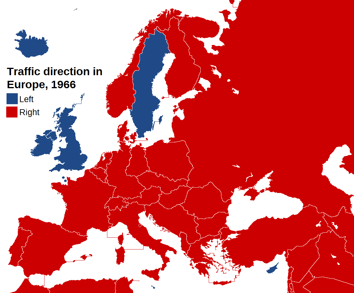 Traffic direction in europe 1966 maps pinterest traffic direction in europe 1966 gumiabroncs Choice Image