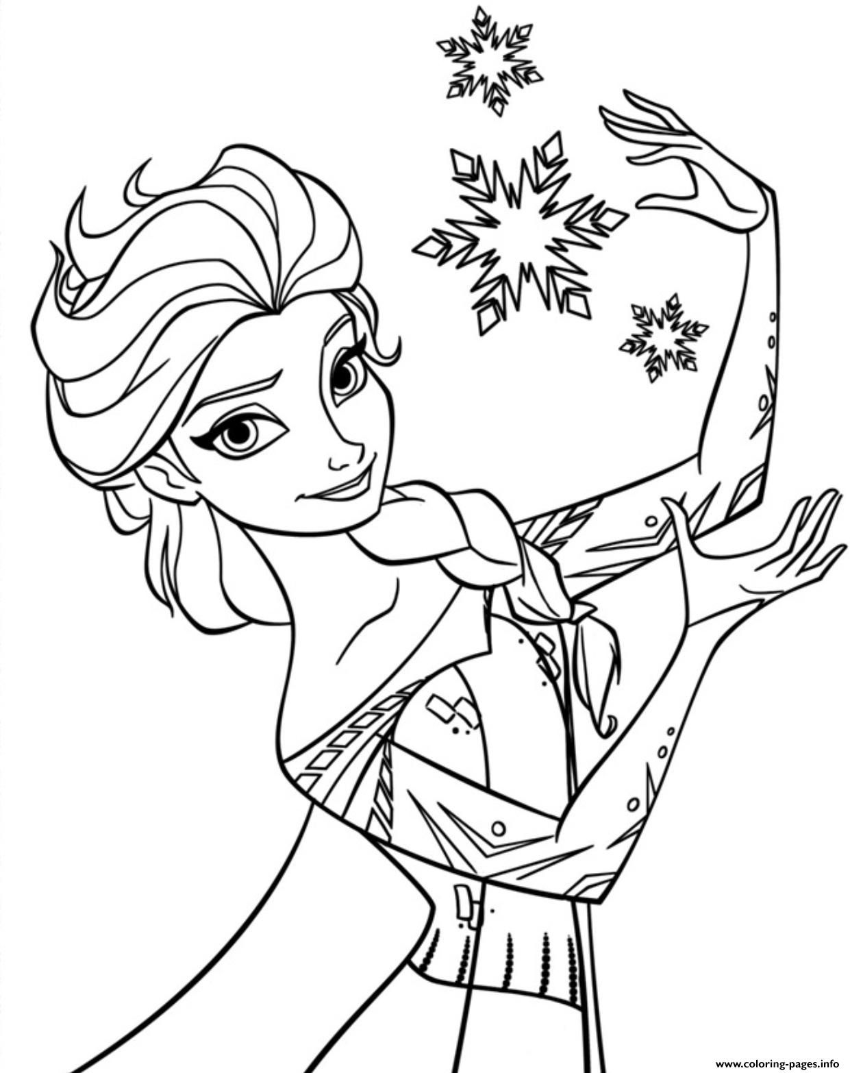Print printable frozen 51b7 coloring pages Elsa coloring