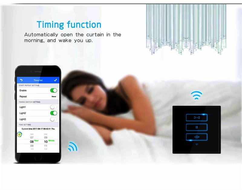 Lanbon New smart home WiFi smart curtain US/UK Standard 1/2/3 gang