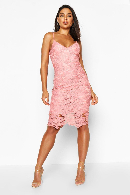 Boutique Crochet Lace Strappy Midi Dress Boohoo Pink Midi Dress Midi Dress Midi Dress Bodycon [ 1500 x 1000 Pixel ]