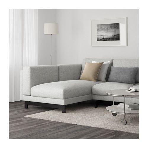 NOCKEBY 3er-Sofa, mit Récamiere links Tallmyra, Tallmyra Holz ...