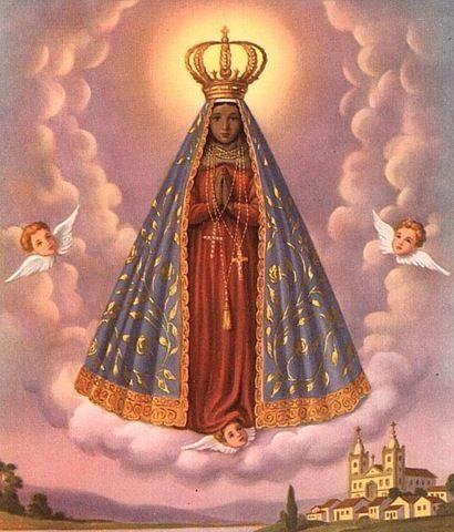 Imagens de Nossa Senhora Aparecida anjos